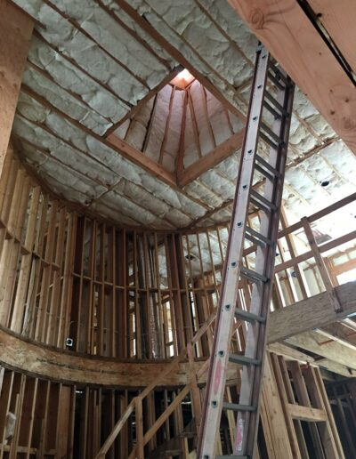 Insulated Walls and Ceiling in Custom Home