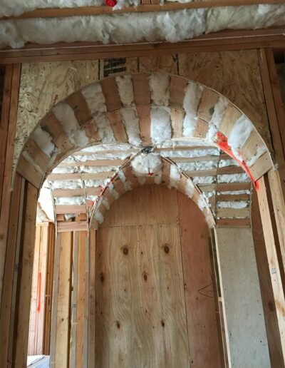 Insulated Wall Arches in Custom Home
