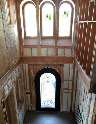 Insulated Walls in Foyer in Custom Home